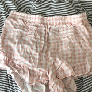 Forever 21 Pink and white checkered shorts
